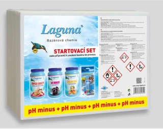 Startovací set pH-  Laguna (triplex tablety, pH-, chlor šok, tester)